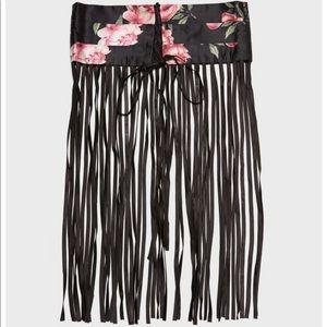 Silk floral corset belt